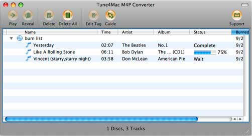 burning cd with mac m4p converter
